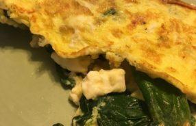 spinach feta omelette