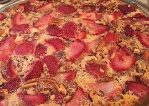 strawberry pecan clafouti