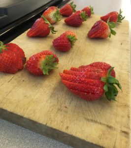 The Verandas sliced strawberries