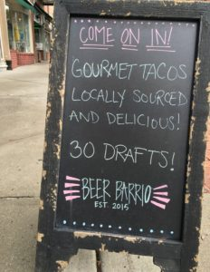 Beer Barrio sign board