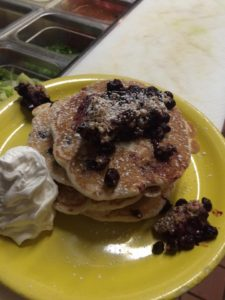 chef jeffrey porter blueberry cobbler pancakes at Dixie Grill