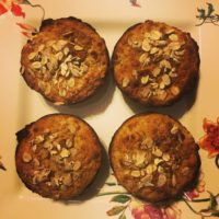 banana strawberry breakfast muffins