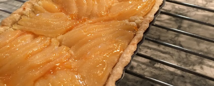 pear almond tart
