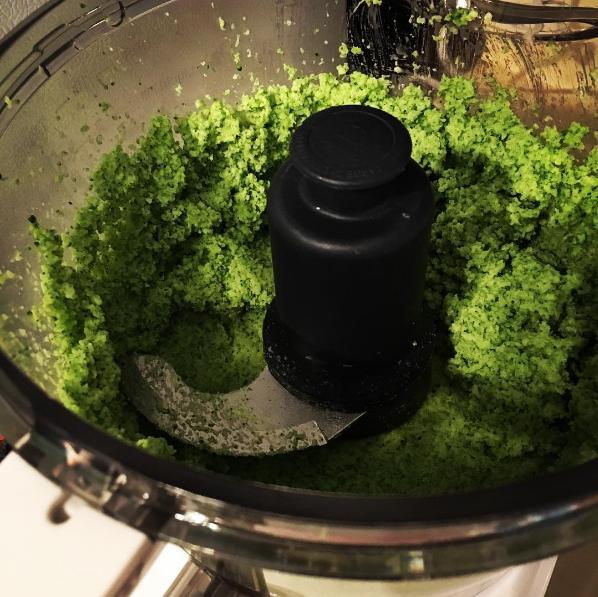puree broccoli for vegetable terrine