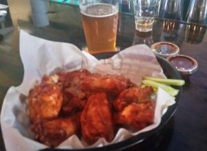 chicken wings at Half Time Sports Bar