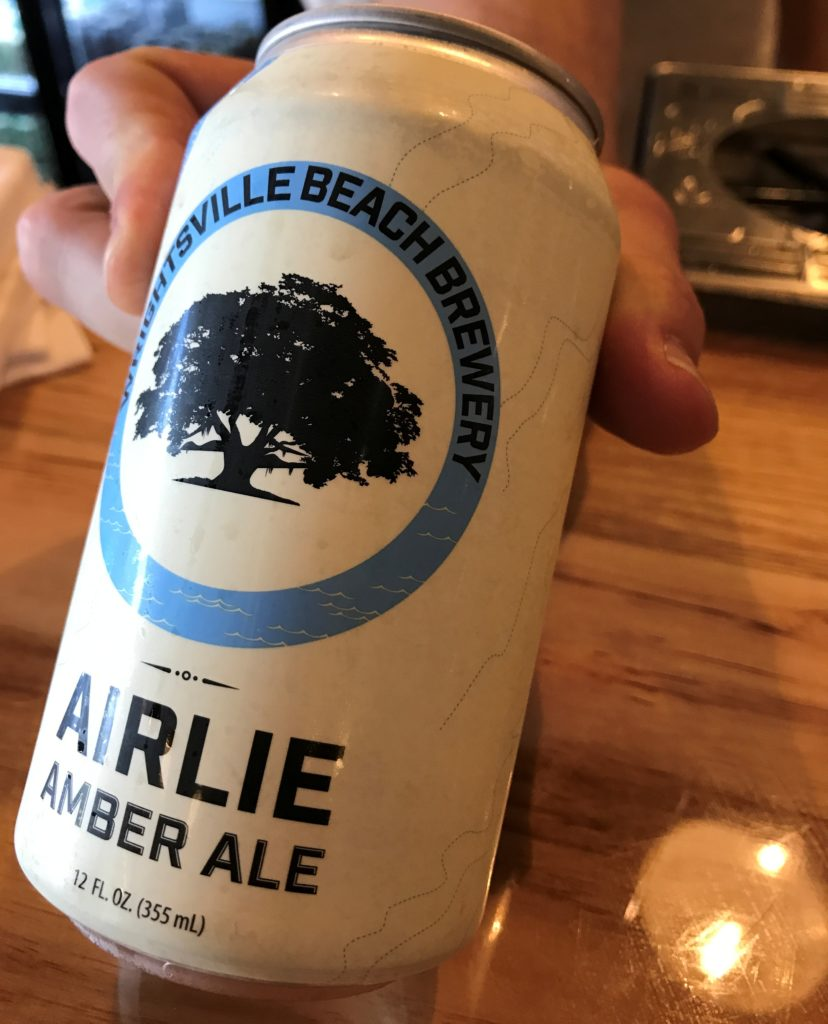 airlie amber ale canned at wrightsville beach brewery