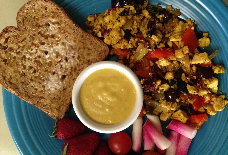 southern food blogs mediterranean tofu scramble