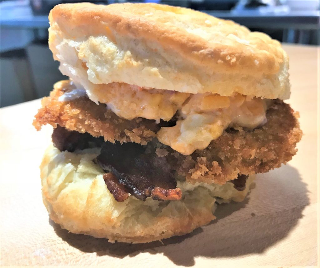 fried chicken biscuit at rise