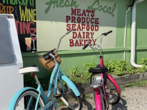 beach bikes at The Veggie Wagon