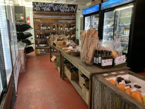 wine and fresh baked bread at The Veggie Wagon