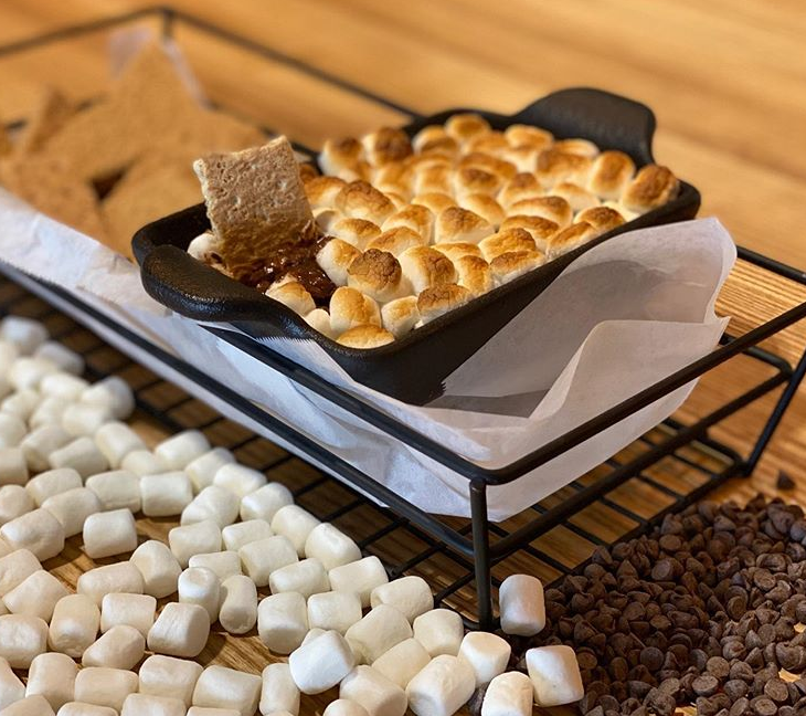 smores dip at the sideboard cafe