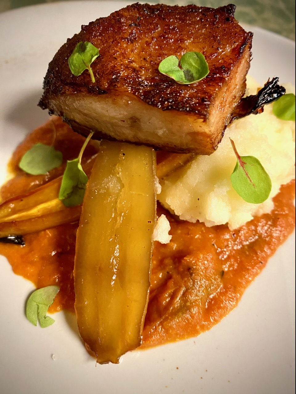 pork belly carrots
